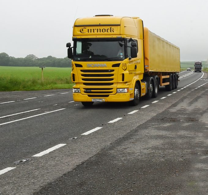WATER WORRIES . . . John Corden is fearful that surface water on the A75 trunk road, near Carrutherstown, could cause a serious accident