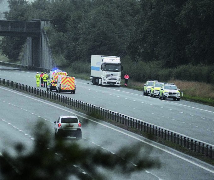 Serious road accident on M74 at Lockerbie. Latest at www.dng24.co.uk