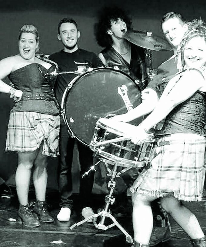 The Le Haggis band features musicians and singers from Dumfries and Galloway