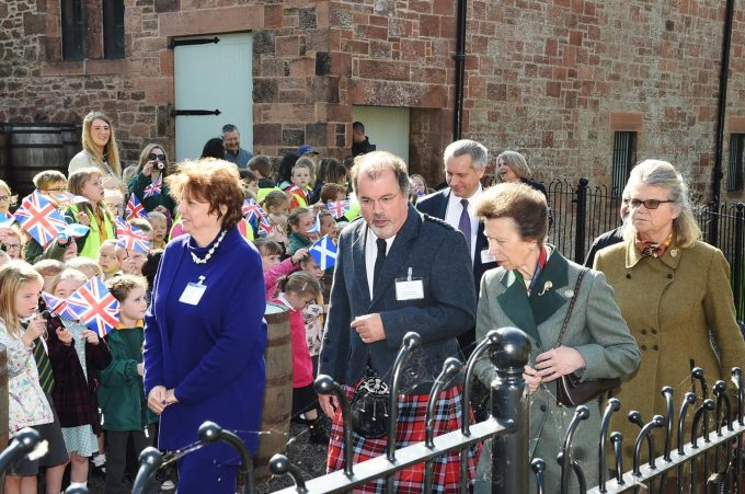 TOUR . . . Professor Thomson gave the royal visitor a guided tour