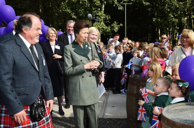 WALKABOUT . . . The Princess Royal chatted to Annan pupils