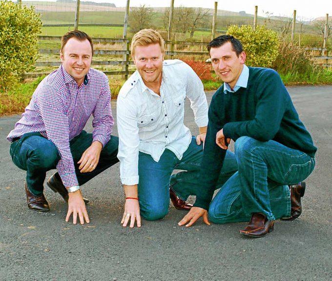 MACREBUR MAGIC . . . left to right: Nick Burnett, Toby McCartney and Gordon Reid want your votes for their new roads solution