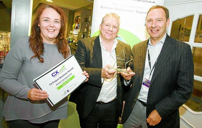Michael and Susan Robertson, Border Tablet presented with Award for Innovation by David Gardiner of Business Gateway
