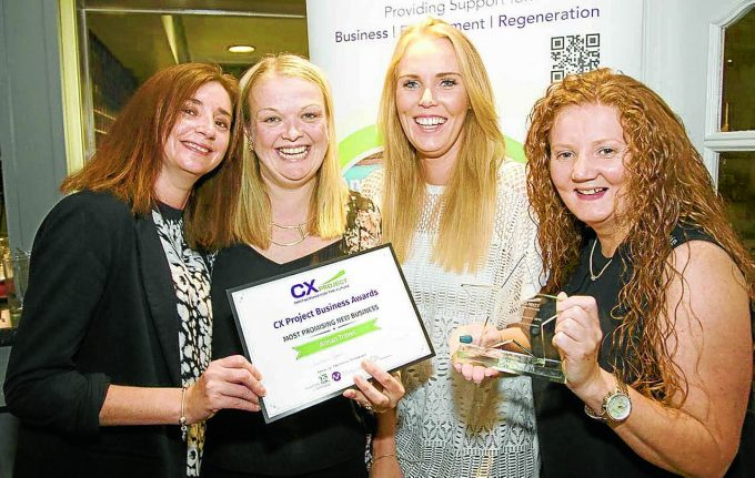 Staff from Annan Travel with their Most Promising Business award. Left to right: Kerry Hetherington, Lyn Smith, Lindsay Smith and Helen Byers. Missing, Arlene Ewing