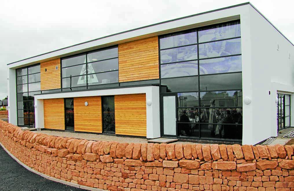 NEW BUILDING . . . the impressive Devil's Porridge building which now houses the museum