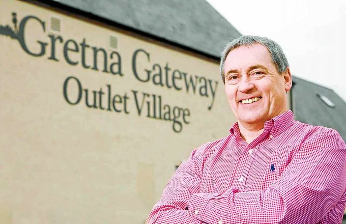 FINAL RECORD. . . the record breaking sales for Gretna Gateway will be Peter Gardner's last