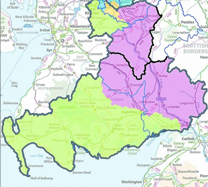 Crown Copyright Permission of Boundary Commission Scotland