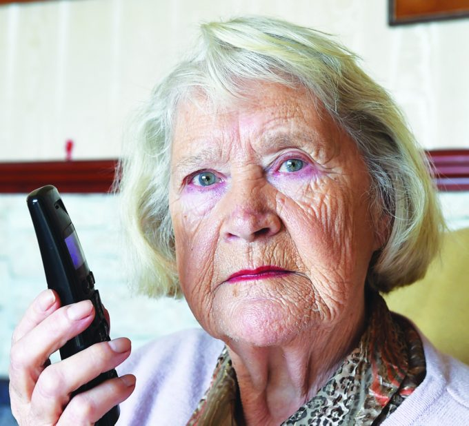 ew *** Local Caption ***  SCAM WARNING . . . Beryl Lawson of Powfoot fell victim to a telephone scam by someone posing as police