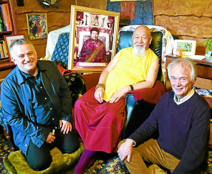 samye ling akong film *** Local Caption *** PREMIERE . . . ÔAkong -A Remarkable LifeÕ premiered yesterday at Samye Ling. In attendance were the film's director Chico DallÕInha, brother of Akong, Lama Yeshe Rinpoche and executive producer Vin Harris, pictured