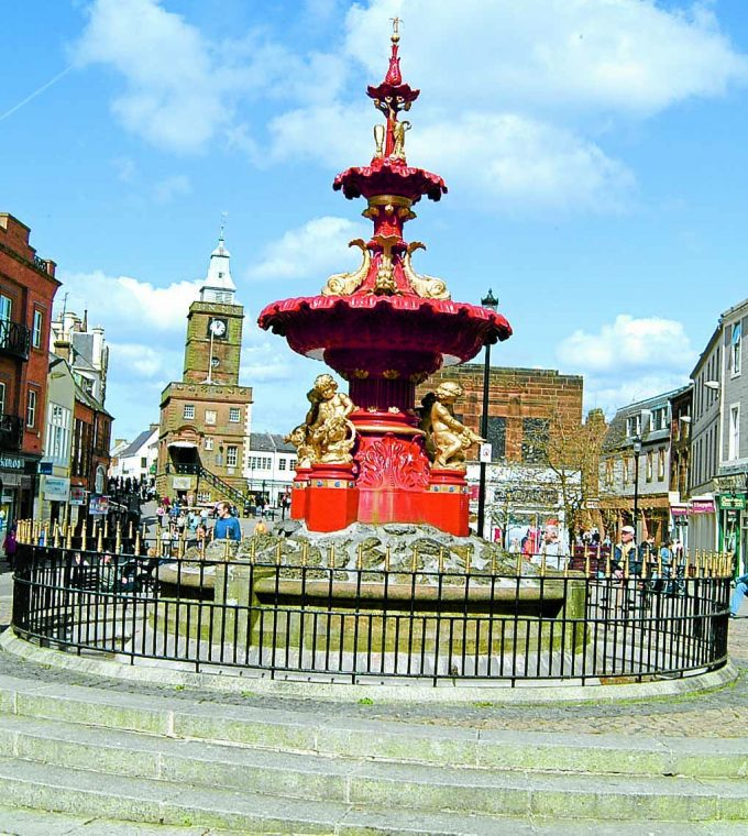 fwe *** Local Caption ***   MAKEOVER . . . a crowd-funding project is being proposed to restore the fountain in Dumfries High Street