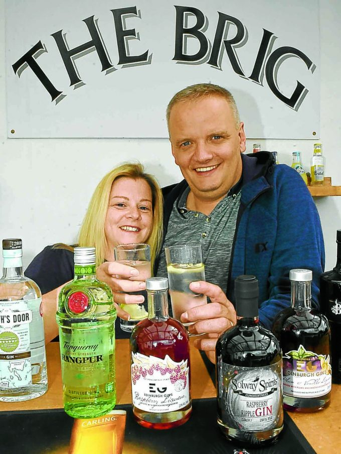 JUST THE TONIC . . . Caroline and Paul Bell of LockerbieÕs Brig Inn are preparing to host a Gin and Cider Day this weekend. Live music in the form of Duke Street and Dark Horses is scheduled to complement a range of fabulous new gins and ciders. The fun kicks off from 2 pm  *** Local Caption *** JUST THE TONIC . . . Caroline and Paul Bell of LockerbieÕs Brig Inn are preparing to host a Gin and Cider Day this weekend. Live music in the form of Duke Street and Dark Horses is scheduled to complement a range of fabulous new gins and ciders. The fun kicks off from 2 pm