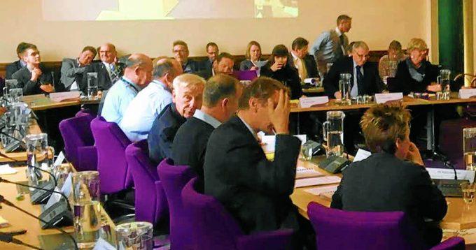 Councillors at Tuesday's meeting