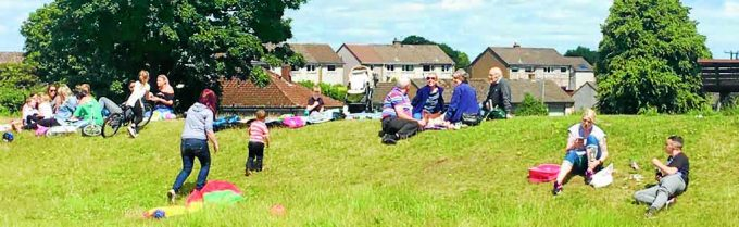COMMUNITY CONCERN . . . about 100 people took part in a 'Have a Field Day' at Parkhead in Dumfries, which campaigners say shows the level of concern over plans for a housing development