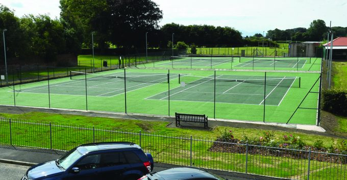 LOOKING GOOD . . . the newly refurbished tennis courts at Seaforth Avenue in Annan  *** Local Caption *** LOOKING GOOD . . . the newly refurbished tennis courts at Seaforth Avenue in Annan