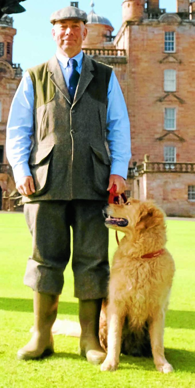 Buccleuch's David Lisett and dog Romeo