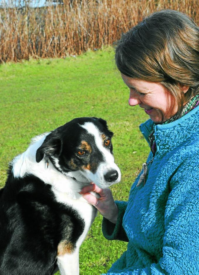 AILSA BLACK . . . Ailsa with her collie, Jack