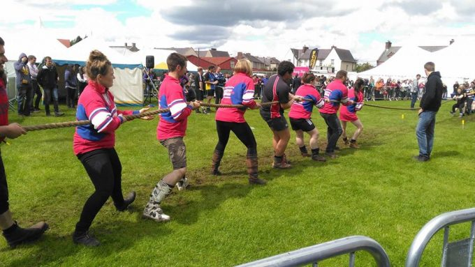 Annandale Young Farmers won the mixed tug of war