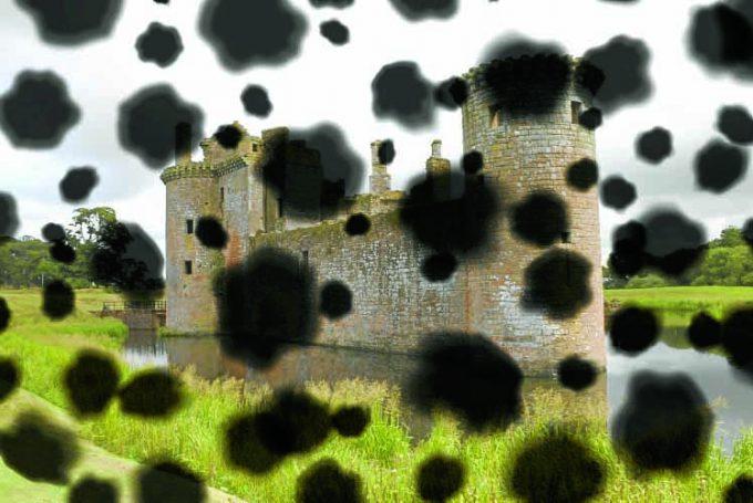 Caerlaverock castle, Domfries and Galloway, Scotland, UK