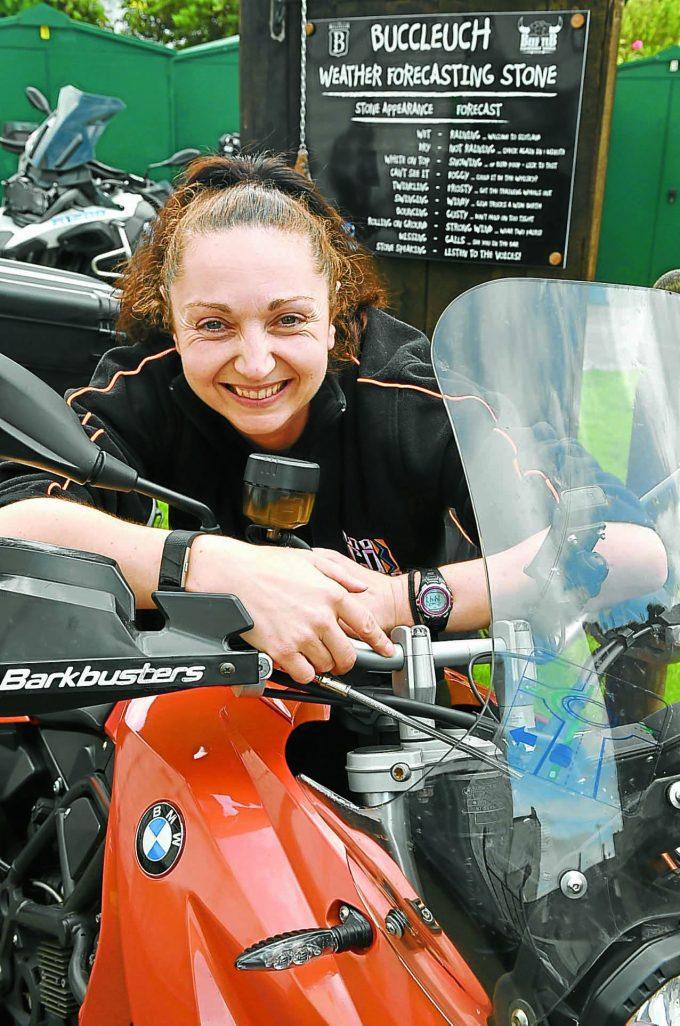 motorbiking moffat y6 *** Local Caption *** FEMALE RIDER . . . Hayley Howe