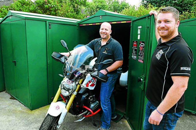 motorbiking moffat y6 *** Local Caption *** LOCKED UP . . .the Smith brothers Clint and Lawrence, right, aka Polly