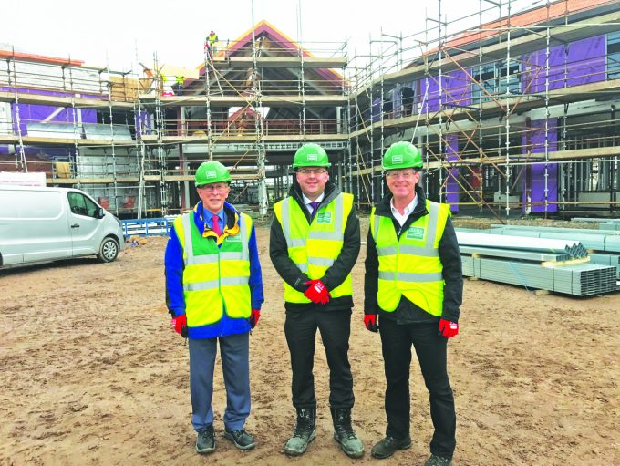 CAMPUS VISIT . . . left to right: Councillor David McKie, Colin Smyth MSP and Councillor Ronnie Nicholson see work being carried out at the new North West Campus in Lochside