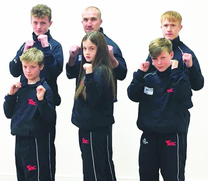 monarch gauld *** Local Caption ***  TEAM FRUSTRATION . . . the collapse of Monarch Airlines has dealt a blow to the team from Let's Do Martial Arts in Dumfries. Pictured, back row, left to right: Dylan pool, David Gauld and Steven Gauld. Front: Kieran Handleigh, Amy Lee Burns and Brayden Pool