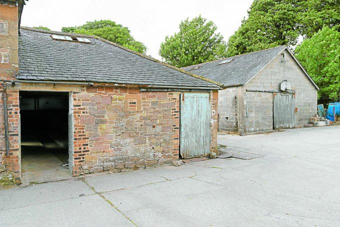 BEFORE . . . unused cattle sheds are set to be converted into the Ninefold Distillery hub