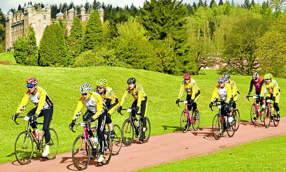 300 get on their bikes for charity challenge