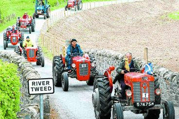 Cavalcade of tractors take to hills