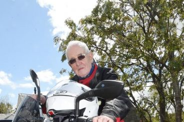 Hunter claims oldest biker in town title