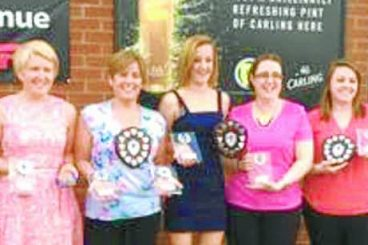 Debut prizegiving for ladies' team