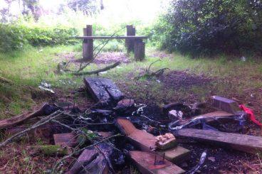 Vandals trash Lochmaben beauty spot