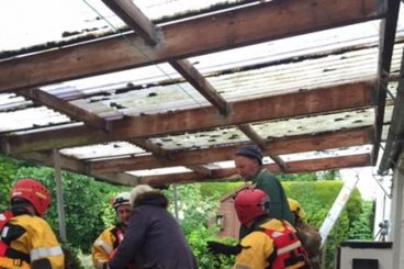 Residents rescued from flooded home