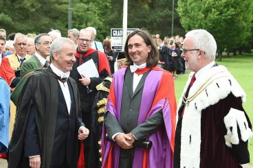 TV's Neil receives honorary doctorate