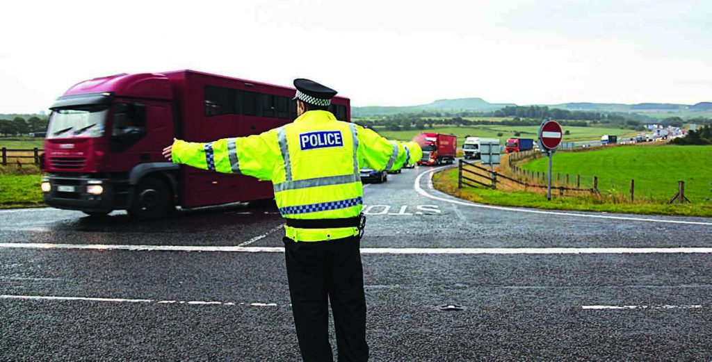 Serious road accident on M74 at Lockerbie.