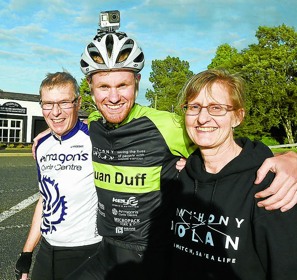 Euan's 11 day cycle race raises £15k
