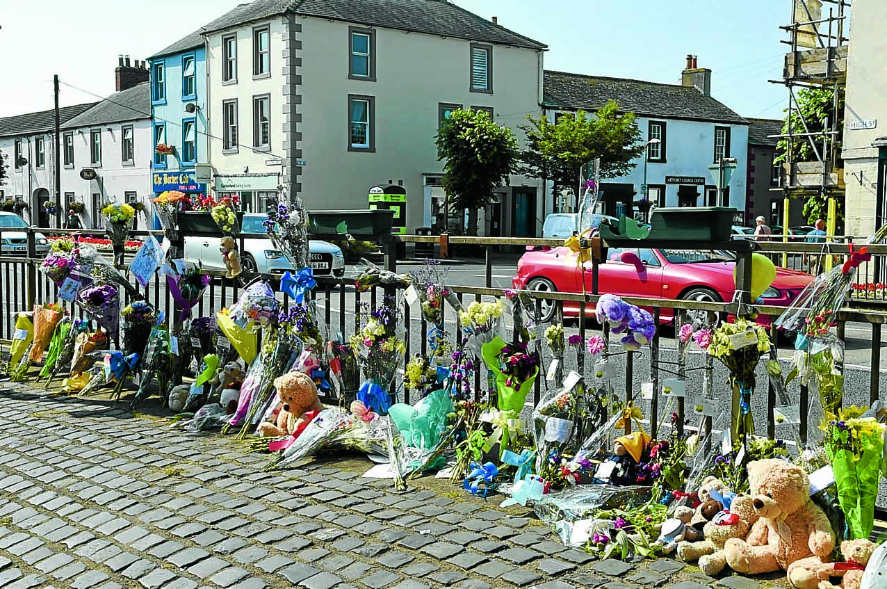 Floral tributes to tractor tragedy youngster