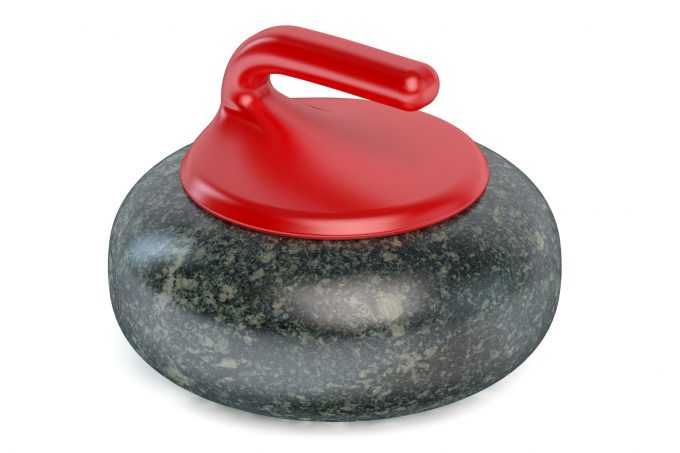 Curling Stone isolated on white background