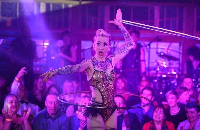 Hhula-hooping cabaret dancer Chi-Chi Revolver