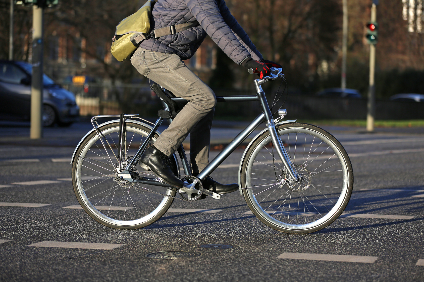Cyclist attacked