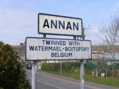 The official twinning between Annan and Water-Boitsford ended a number of years ago, but a strong link still remains today