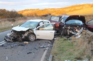 Four hurt in rural road accident