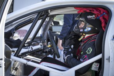 Rally team roll out supercar