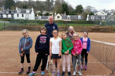 Huge tennis lesson demand for Moffat kids