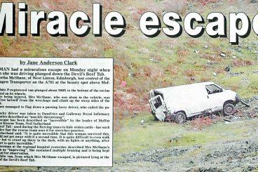 Lucky escape: van driver tells all