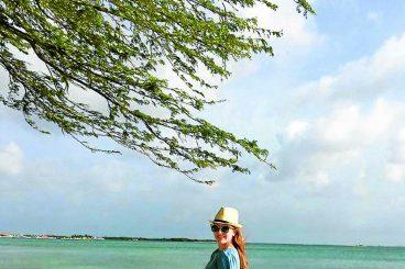 Corinne enjoys life on the ocean waves