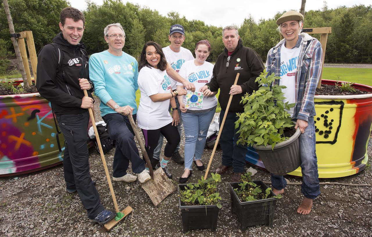 Gardening Group: Great Big Walkers Stop Off To See Dumfries Projects