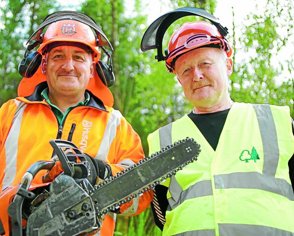 OUT and ABOUT . . . Archie McNeillie and John 'Cool' Coughtrie from the Forestry Commission's recreation team
