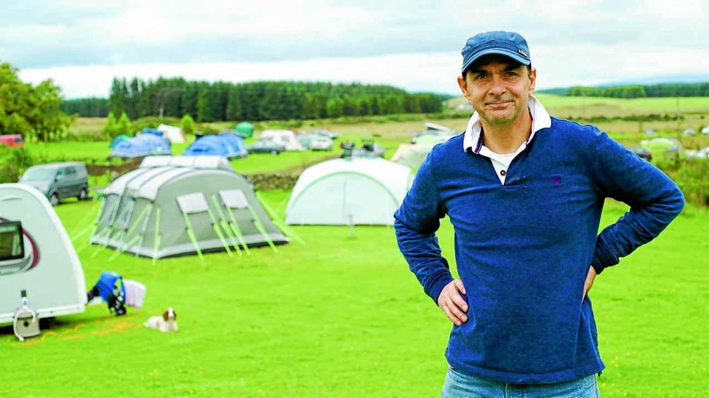FOREST LIFE . . . owner James Lucks at his Balloch O'Dee campsite