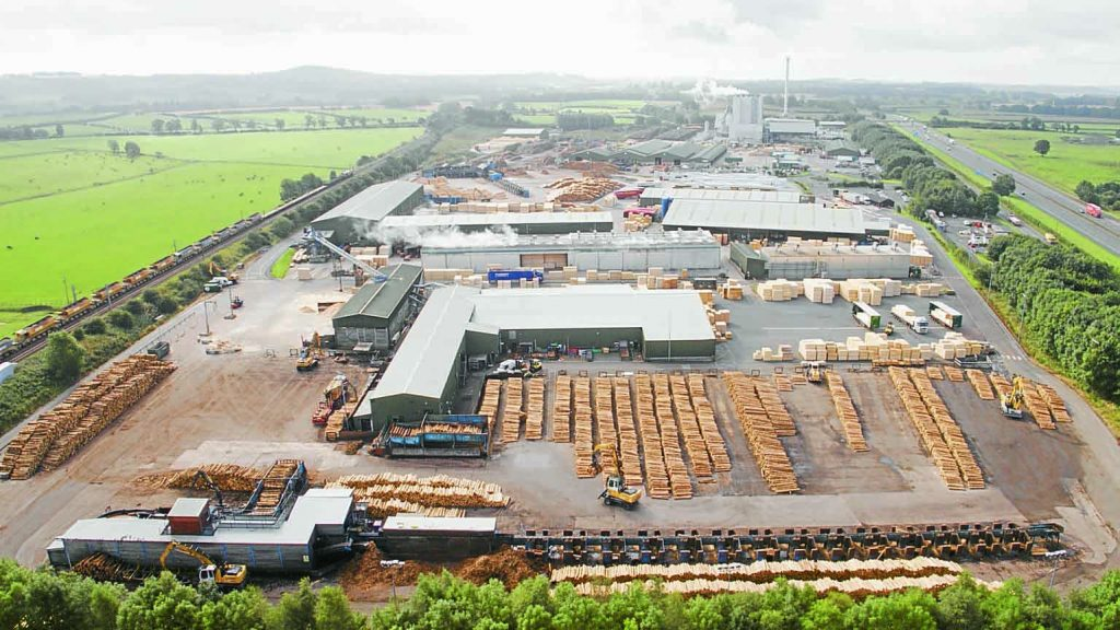 MAJOR INDUSTRY . . . the series will include a sequence on the James Jones Sawmill at Lockerbie
